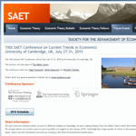 15th SAET Conference on Current Trends in Economics