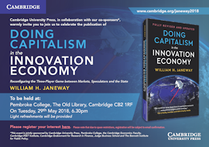 Doing Capitalism in the Innovation Economy - Book Launch Invitation