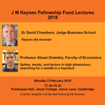 J M Keynes Fellowship Fund Lectures 2018