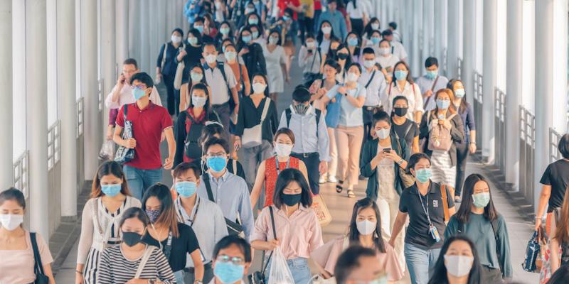 Public Wearing Masks image