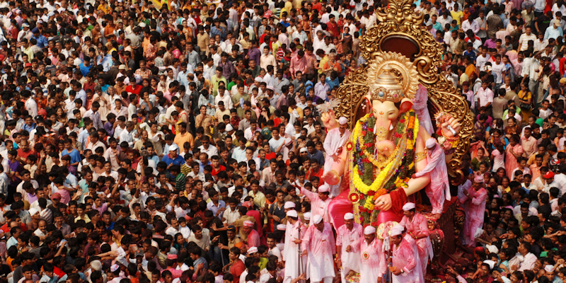 Crowds in India image